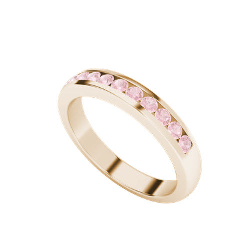 Brilliant Cut Pink Sapphire Ring 9ct Rose Gold