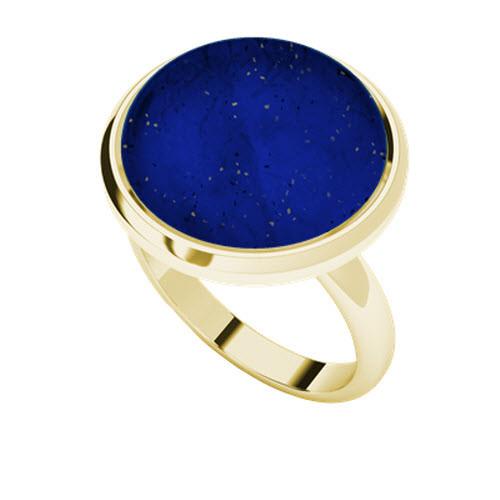 Lapis lazuli ring in 9 carat yellow gold