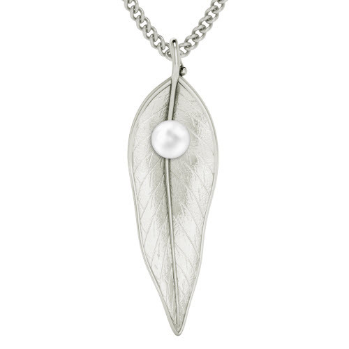 StyleRocks Terre-et-Mer Leaf Necklace - Sterling Silver - 45cm 4bcrW8pv1c
