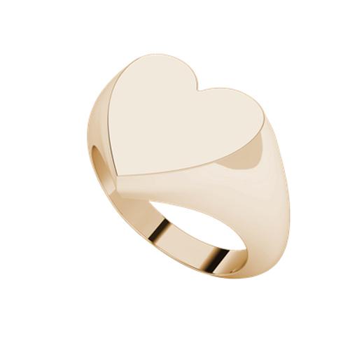 Heart Signet Ring 9ct Rose Gold