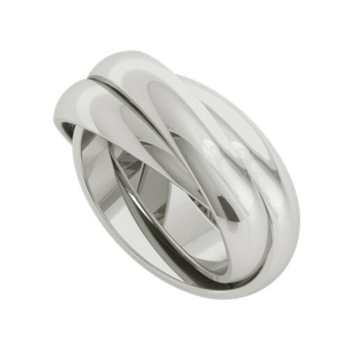 Russian Wedding Ring - Juno 9ct White Gold