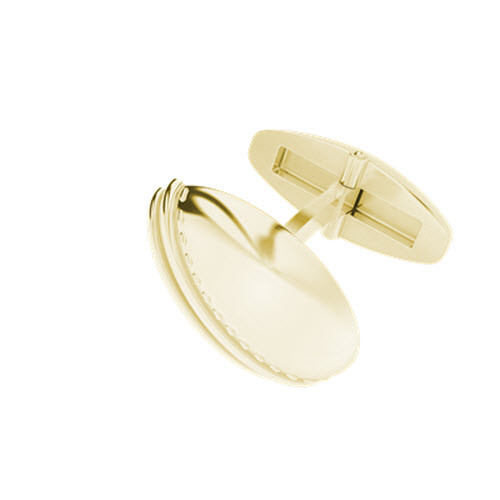 Cricket Ball 9ct Yellow Gold Cufflinks