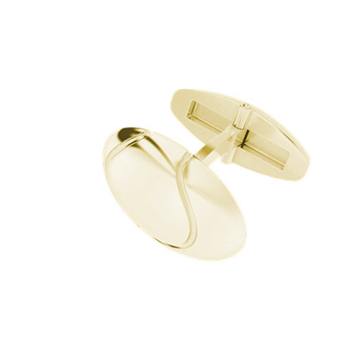 Tennis Ball Cufflinks Yellow Gold
