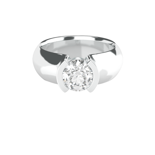 brilliant-cut-1ct-diamond-semi-bezel-set-14carat-white-gold-engagement-ring-stylerocks