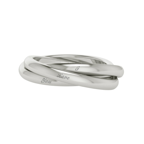 Russian Wedding Ring - 'Willow' 18ct White Gold