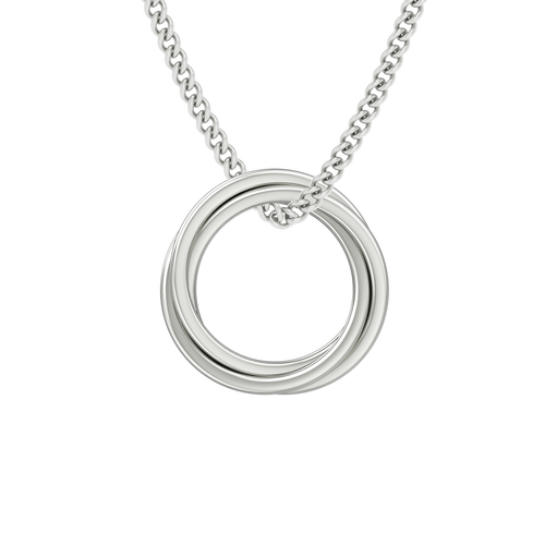 StyleRocks Catherine Russian Rings Necklace In Sterling Silver - 45cm nbv3OEPg