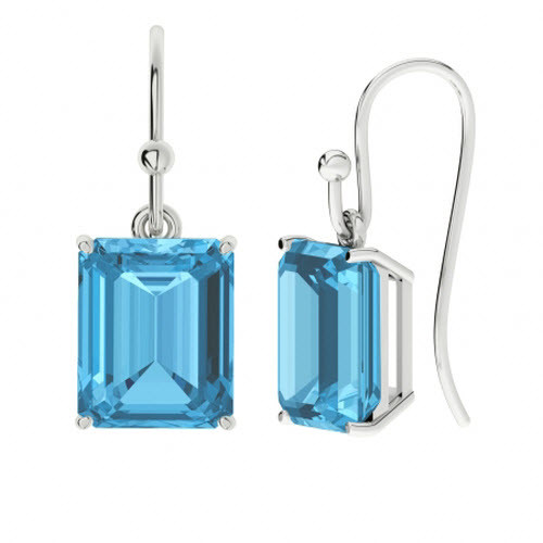 StyleRocks Onyx Emerald Cut Sterling Silver Drop Earrings jHQ4S8fpp6