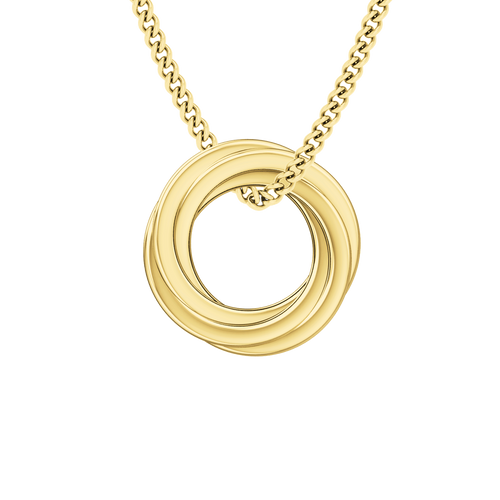 Russian Ring Necklace - the 'Cate' 9ct Yellow Gold