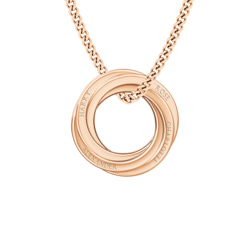 Russian Ring Necklace - the 'Cate' 9ct Rose Gold