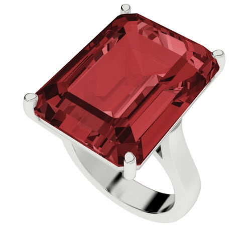 Ruby Sterling Silver Cocktail Ring