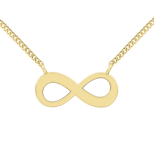 Infinity Necklace - 9ct Yellow Gold