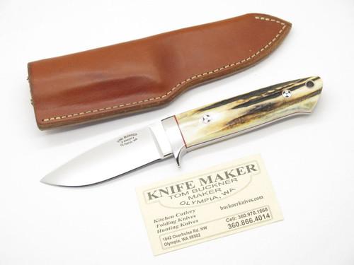 TOM BUCKNER USA CUSTOM HANDMADE STAG 154CM LOVELESS FIXED BLADE HUNTING KNIFE