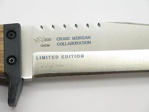CUSTOM LIMITED BUCK 967 CM ADAPTOR CRAIG MORGAN FIXED 154CM TANTO SURVIVAL KNIFE