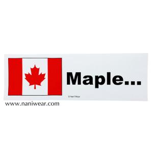 Hetalia Inspired Bumper Sticker: Canada, Maple...