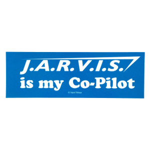 Iron Man Inspired Bumper Sticker: Jarvis is my Co-Pilot