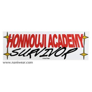 Kill la Kill Inspired Bumper Sticker: Honnouji Academy Survivor