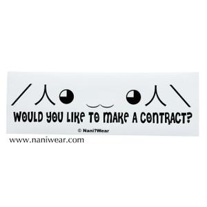 Madoka Magica Inspired Bumper Sticker: Make a Contract