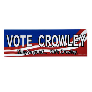 Supernatural Inspired Bumper Sticker: Vote Crowley