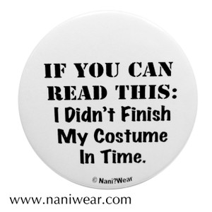Cosplay Button: Finish My Costume in Time