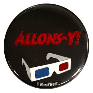 10th Doctor Who  Inspired Button Allons-Y!