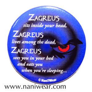 Doctor Who Inspired Button: Zagreus sit inside your head