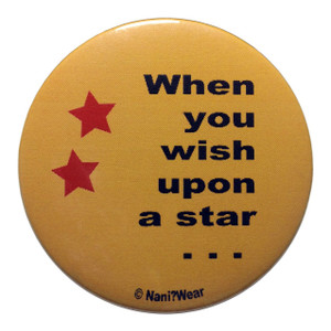 Dragonball Inspired Button: When You Wish on a Star