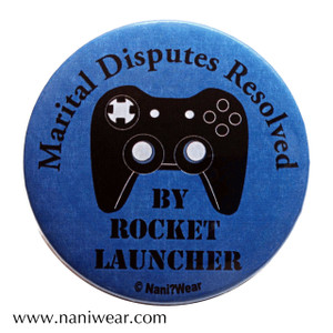 Gamer Button: Marital Disputes Resolved by Rocket Launcher