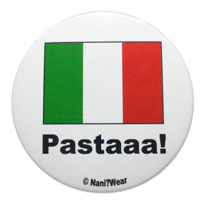 Hetalia Inspired Button: Italy, Pastaaaa!
