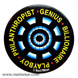 Iron Man Inspired Button: Genius Billionaire Playboy