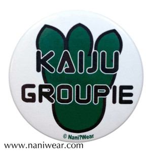 Pacific Rim Inspired Button: Kaiju Groupie