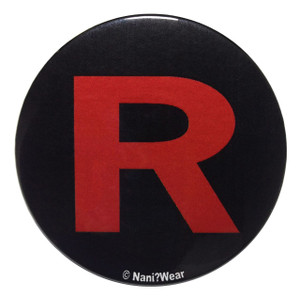 Pocket Monsters Inspired Button: Team Rocket Black