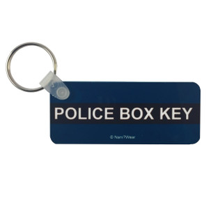 Doctor Who Inspired Long Keychain: Police Box Key