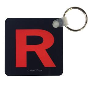 Pocket Monsters Square Keychain: Team Rocket R