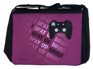 Gamer Girl Large Messenger/Laptop Bag: I Beat Up Boys