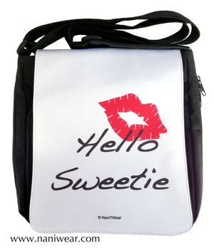 Doctor Who Inspired Medium Messenger Bag: Hello Sweetie