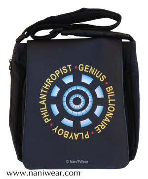 Iron Man Inspired Medium Messenger Bag: Genius Billionaire