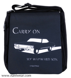 Supernatural Inspired Medium Messenger Bag: Carry On Wayward Son