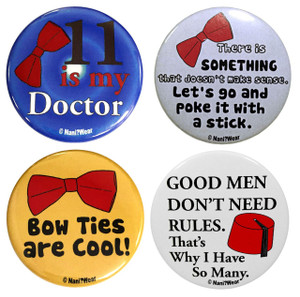 11th Doctor Who Inspired 4-Button Set