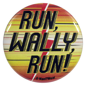 The Flash Young Justice Button Run Wally Run