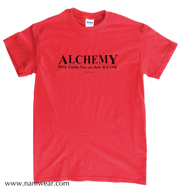 Fullmetal Alchemist Inspired T-Shirt: Alchemy Costs Arm & Leg