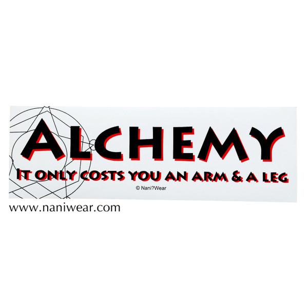 Fullmetal Alchemist Inspired Bumper Sticker: Alchemy Arm Leg