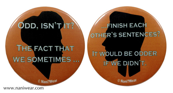 Bioshock Inspired Button Set: Lutece Twins