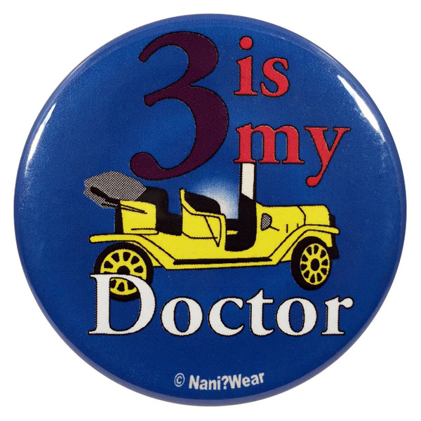 Doctor Who Button: 3 is My Doctor