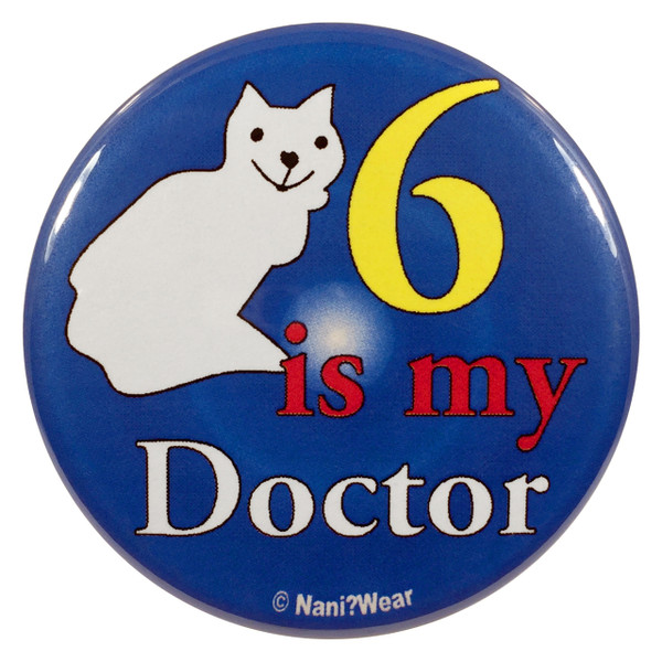 Doctor Who Button: 6 is My Doctor