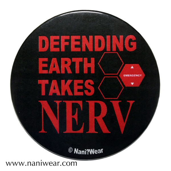 Evangelion Inspired Button: Defending Earth takes NERV