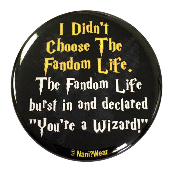 Harry Potter Inspired Button: Fandom Life