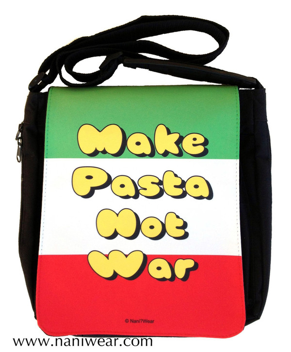 Hetalia Inspired Medium Messenger Bag: Make Pasta Not War