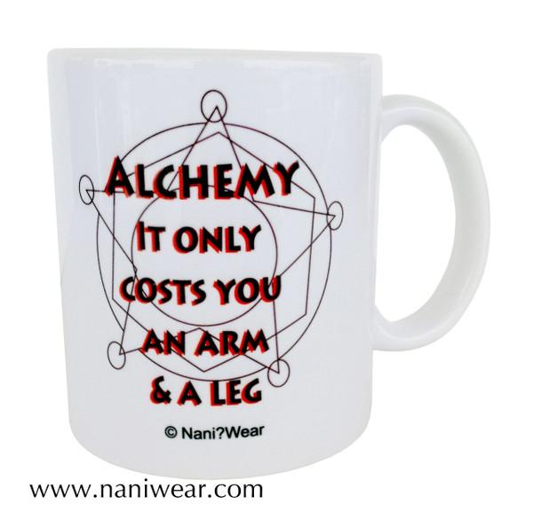 Fullmetal Alchemist Inspired Double-sided Mug: Alchemy-Back Off
