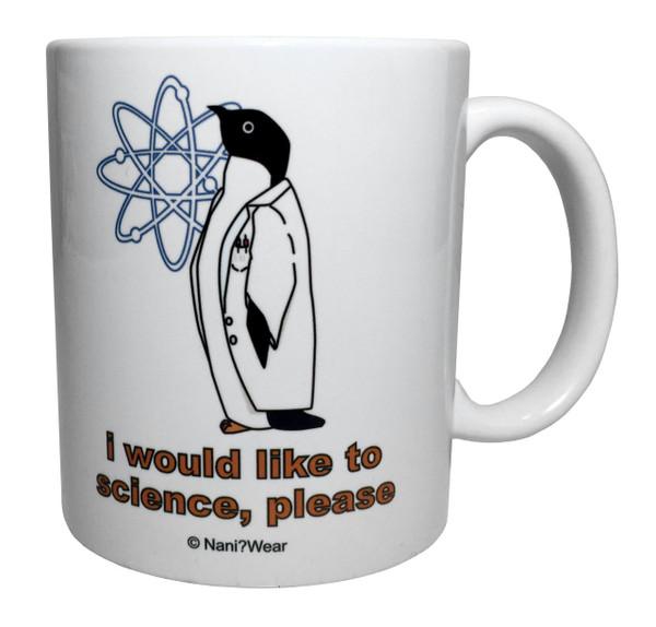 Double-Sided Science Penguin Mug
