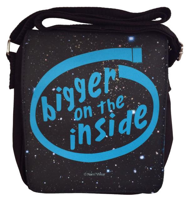 Doctor Who Inspired Small Messenger Bag: Bigger on the Inside